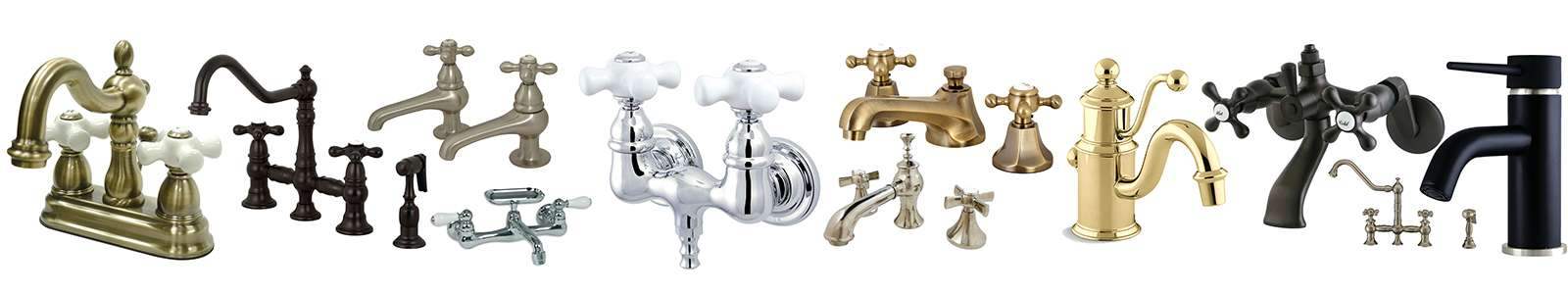 Separate Hot & Cold Faucets