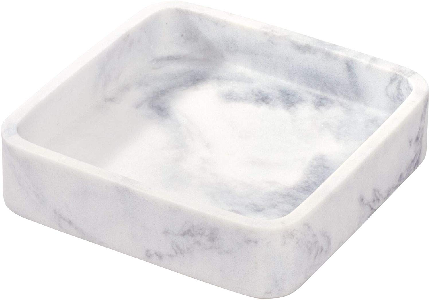 The Period Bath Supply Company A Division Of Historic Houseparts Inc Soap Dishes And Dispensers Dakota Collection White Marble Resin Vanity Tray Or Soap Dish