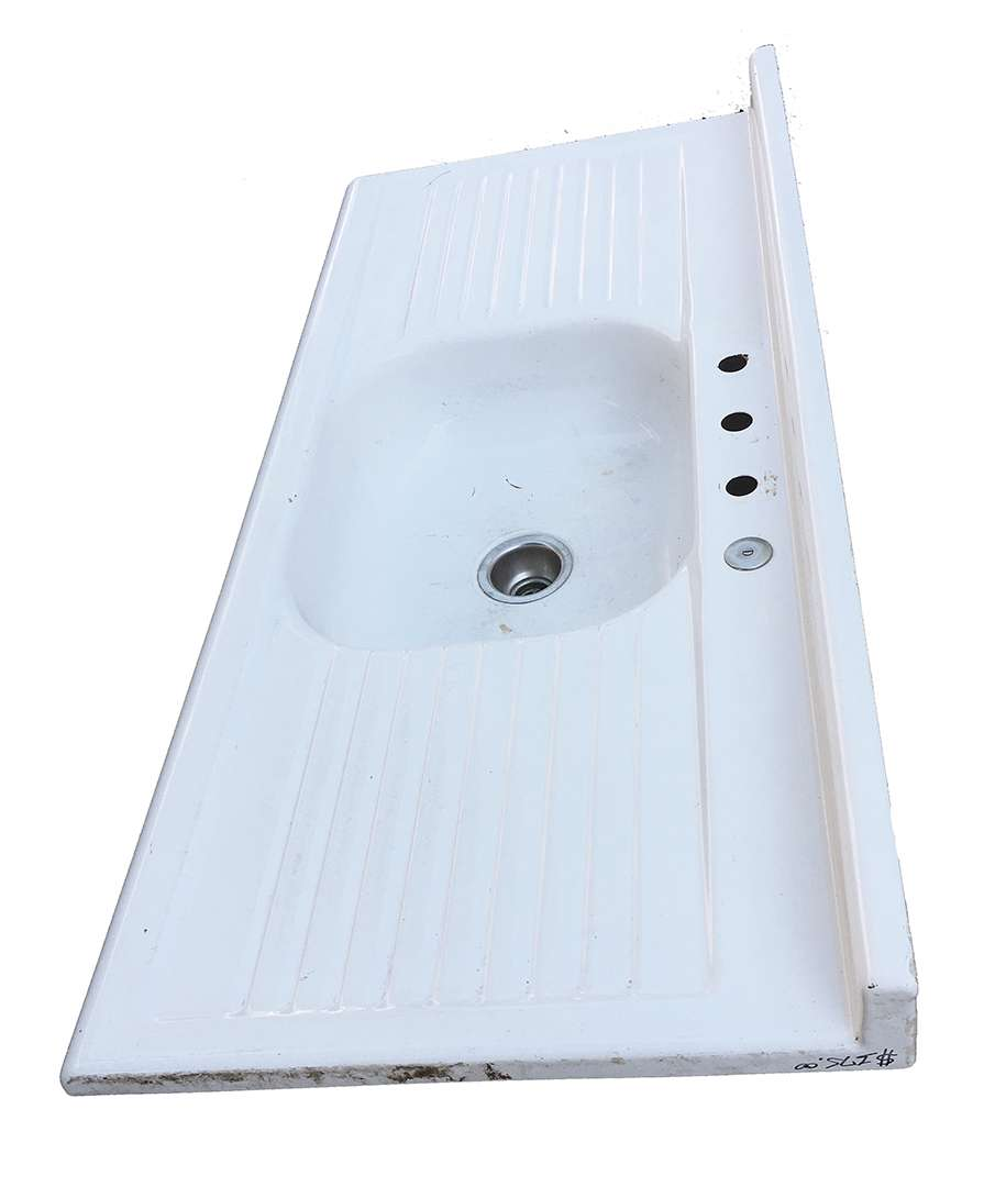 Image of: The Period Bath Supply Company A Division Of Historic Houseparts Inc Gallery Of Sold Antique Sinks Antique Double Drainboard Enamel Kitchen Sink